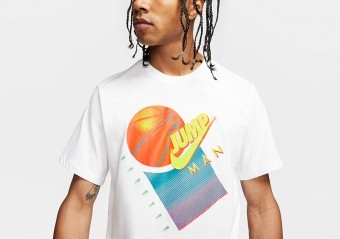 NIKE AIR JORDAN JUMPMAN GRAPHIC BASKETBALL CREW TEE WHITE