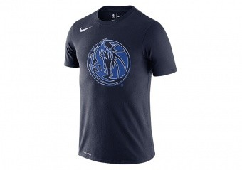 NIKE NBA DALLAS MAVERICKS LOGO DRI-FIT TEE COLLEGE NAVY