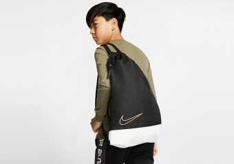 NIKE ELITE BASKETBALL GYMSACK BLACK WHITE