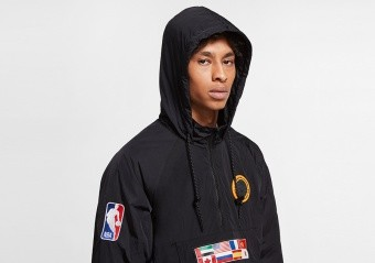 NIKE NBA N31 COURTSIDE JACKET BLACK