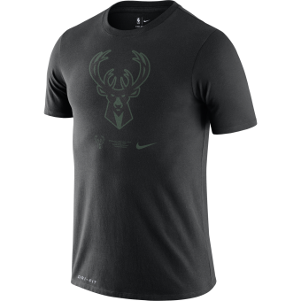 NIKE NBA MILWAUKEE BUCKS DRI-FIT LOGO TEE