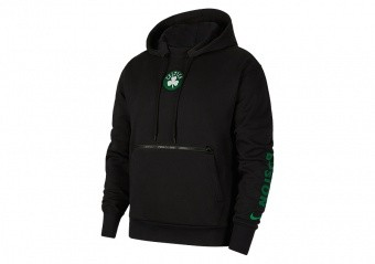 NIKE NBA BOSTON CELTICS COURTSIDE CITY EDITION PULLOVER HOODIE BLACK