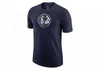 NIKE NBA DALLAS MAVERICKS EARNED EDITION LOGO DRI-FIT TEE COLLEGE NAVY