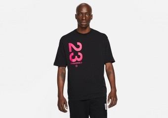NIKE AIR JORDAN 23 ENGINEERED WORDMARK CREW TEE BLACK