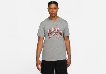 NIKE AIR JORDAN BRAND CREW TEE CARBON HEATHER