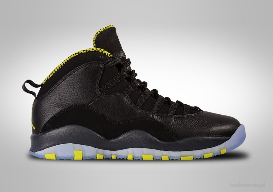 NIKE AIR JORDAN 10 RETRO BLACK VENOM GREEN