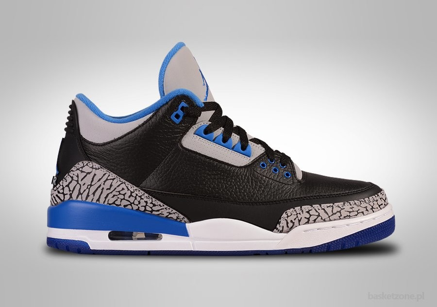 super popular 7a952 ac616 NIKE AIR JORDAN 3 RETRO BLACK SPORT BLUE